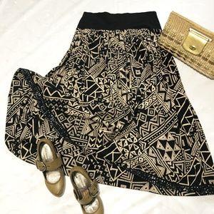 Autograph cotton batik print maxi skirt
